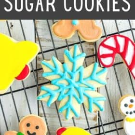 healthy sugar cookies on a cooling rack