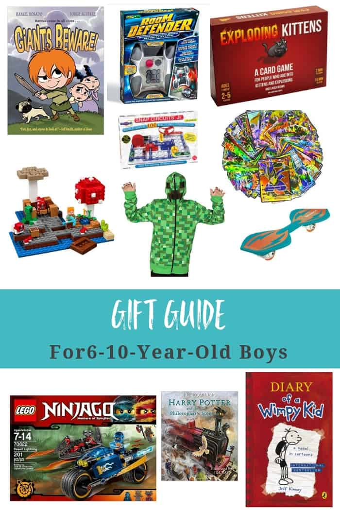 Gift guide for 6-10-year-old boys to help you find the perfect present for the mini male in your life. A mix of price ranges will fit any budget. #sustainablecooks #giftguides #boygifts #christmasgifts #hanukkahgifts