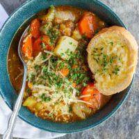 Instant Pot Lentil Soup {Vegetarian Lentil Soup}
