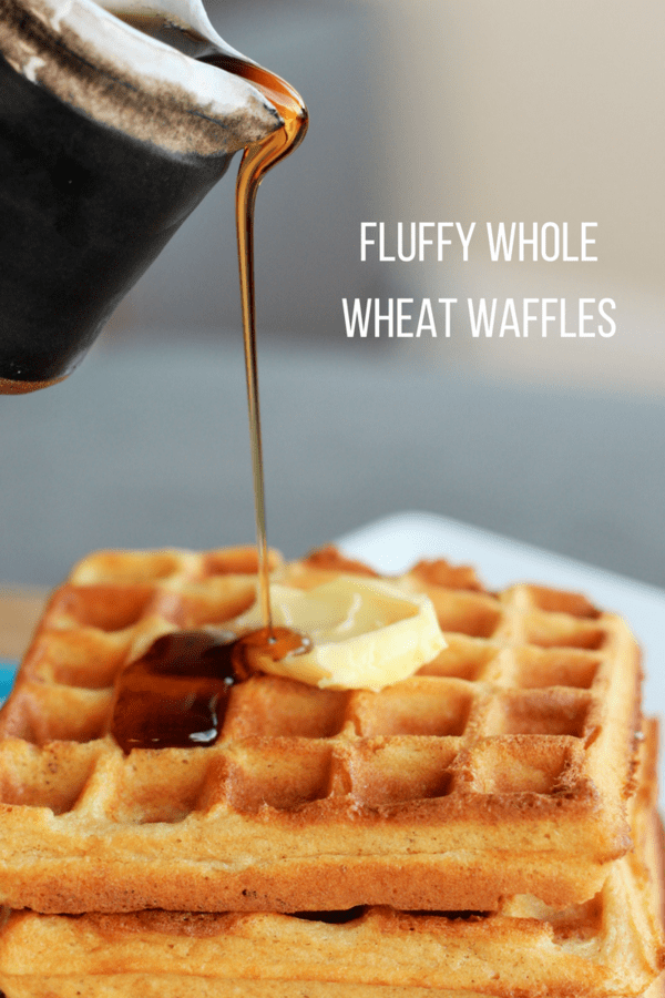 These Fluffy Whole Wheat Waffles turn out perfectly every time. They are light, fluffy, and made from scratch. Only you will know they're whole wheat.