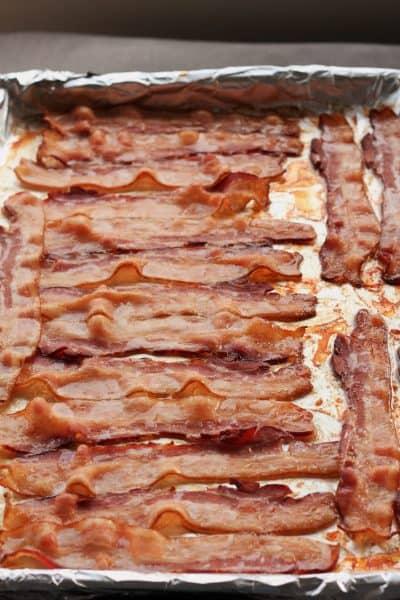 bacon on a baking sheet