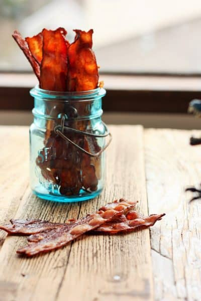 bacon in a mason jar