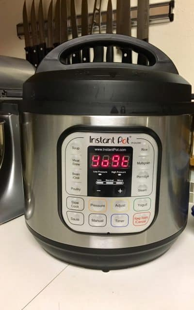 Instant pot with yogt on the display | www.sustainablecooks.com