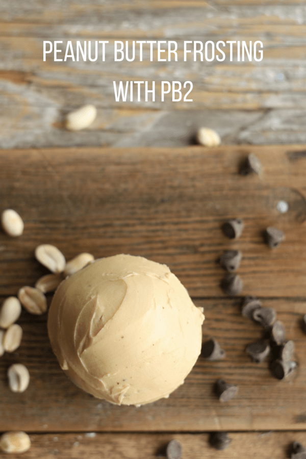 Creamy and luscious peanut butter frosting with PB2. Amazingly delicious fluffy peanut butter frosting with only a few simple ingredients.