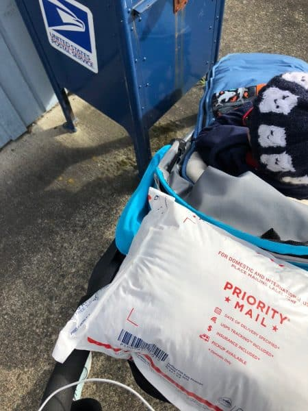 package with a stroller