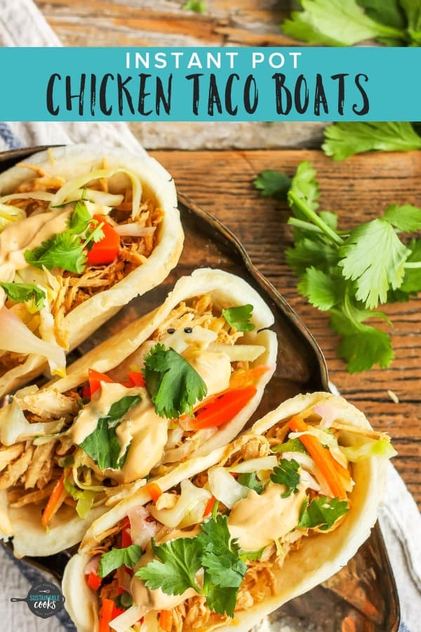 A delicious make-ahead appetizer, baked mini Asian Chicken Taco Boats make a great snack or game day treat. Whip up a batch of these tasty treats in the Instant Pot for a speedy healthy app.