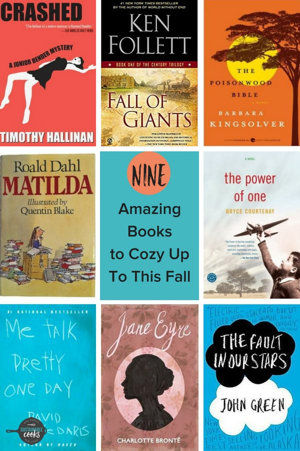 Grab your softest blanket, your warmest sweater, and a glass of pumpkin spiced something, and get ready for the best 9 Books to Cozy Up To This Fall. This list with humor, suspense, and light-hearted reads will keep you warm long after the summer has gone. #sustainablecooks #books #booklovers #fallbooks #desertislandreadinglist