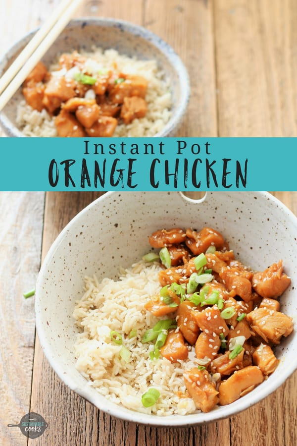 This easy Healthy Orange Chicken recipe is the perfect weeknight dinner. Healthy and made with 100% real food ingredients, this low carb and gluten-free supper is a delicious winner. #sustainablecooks #orangechicken #instantpotorangechicken #orangechickenrecipe #instantpot #whole30 #paleo