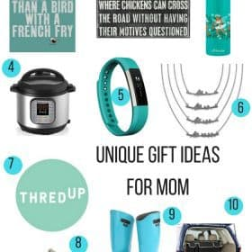 gift guide containing creative ideas for mom (mother's day)