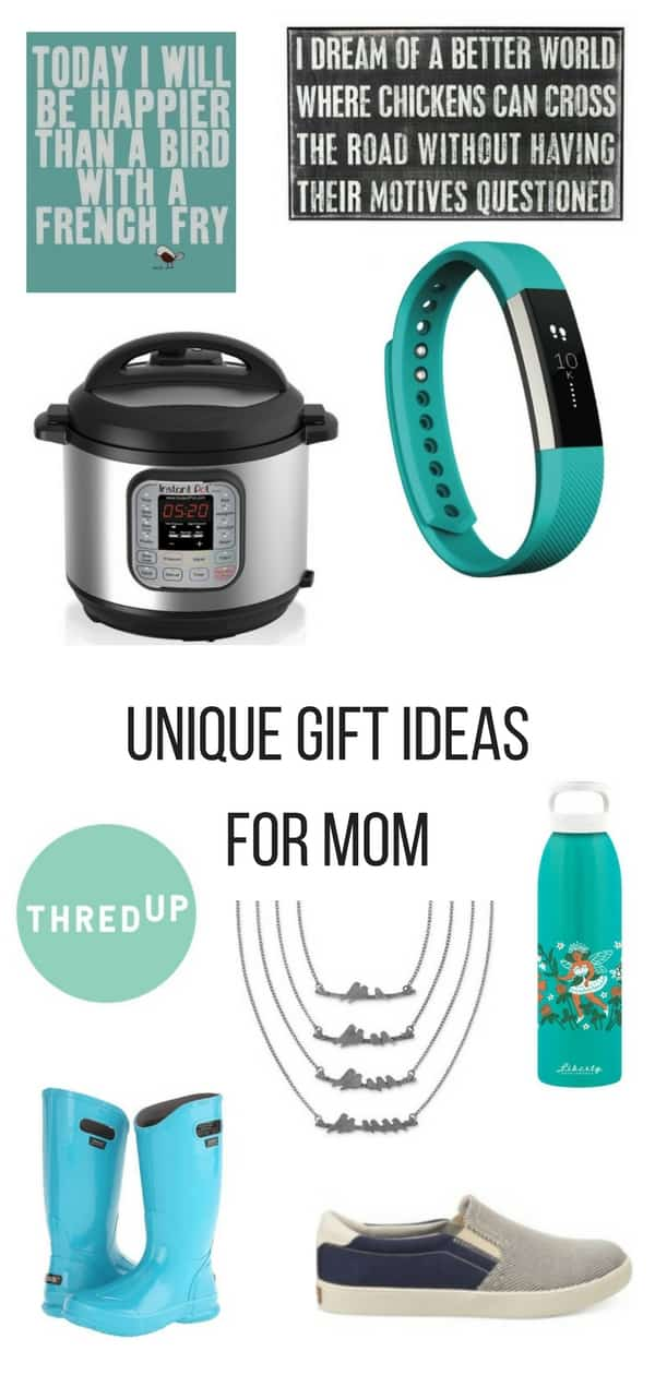 Find the perfect Mother's Day gift ideas with this list of Unique Gift Ideas for Mom. You won't find the same old typical presents in this gift guide! Treat your mom to something special and creative this year. #mothersday #mothersdaygift #gifts #giftideas