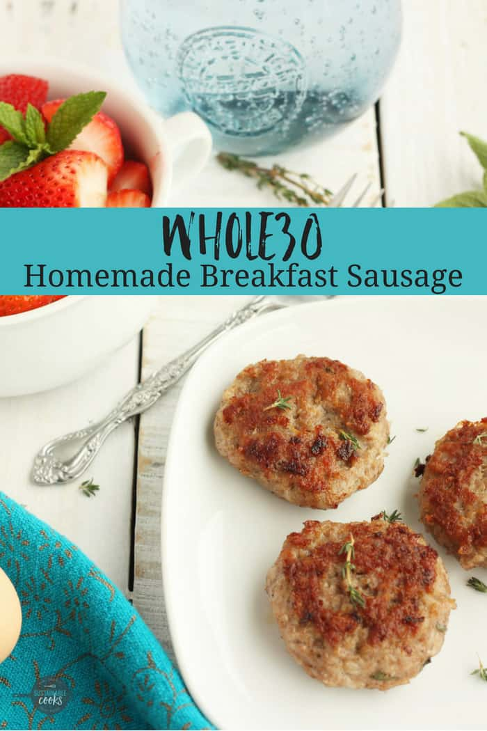 Learn how easy it is to make amazing low carb homemade breakfast sausage patties! The exclusive seasoning blend makes this sausage recipe Whole30 compliant and paleo. #sustainablecooks #whole30 #breakfast #breakfastsausage #sausage #lowcarb #paleo #keto