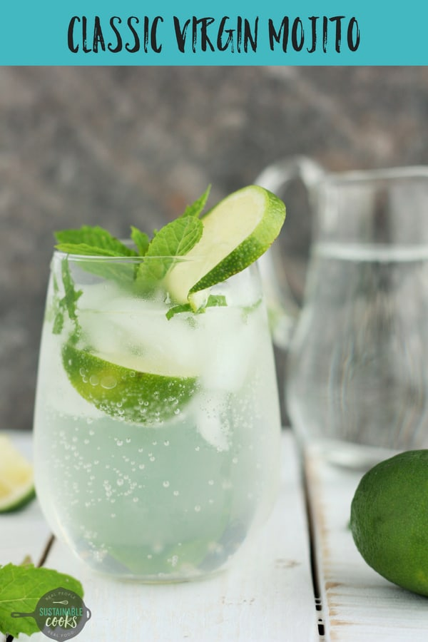 A simple and tasty recipe for Classic Virgin Mojitos. A refreshing mix of lime, mint, and honey simple syrup, these mojito cocktails are perfect for parties or a quiet afternoon. #sustainablecooks #mojito #mint #mocktail #nonalcoholic #virginmojito #cocktails #mocktails