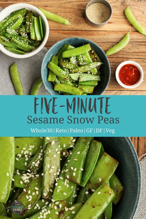 Learn the secrets on how to cook an amazing snow pea stir-fry. This healthy and simple weeknight side dish comes together in only 10 minutes. #sustainablecooks #snowpeas #stirfry #sidedishes #vegetarian #weeknightdinners #vegan