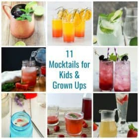 Collage of mocktails