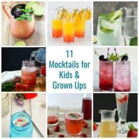 Collage of mocktails