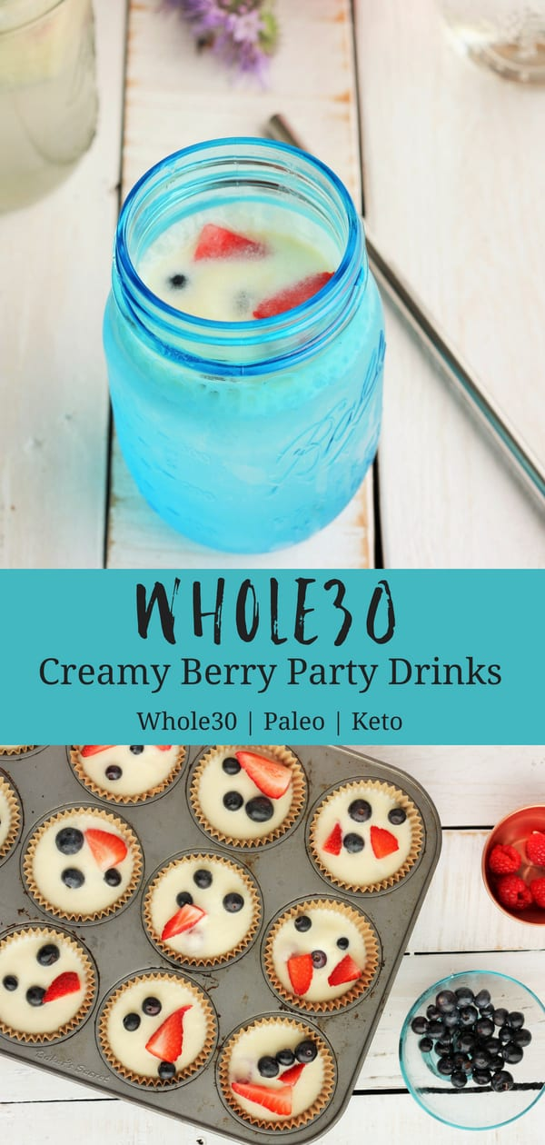 Super tasty Whole30 Creamy Berry Party Drinks are a tastebud high-fiving dairy-free recipe. These are the perfect sip for low carb and clean eating drinks. #sustainablecooks #summerdrinks #mocktails #whole30 #paleo #keto