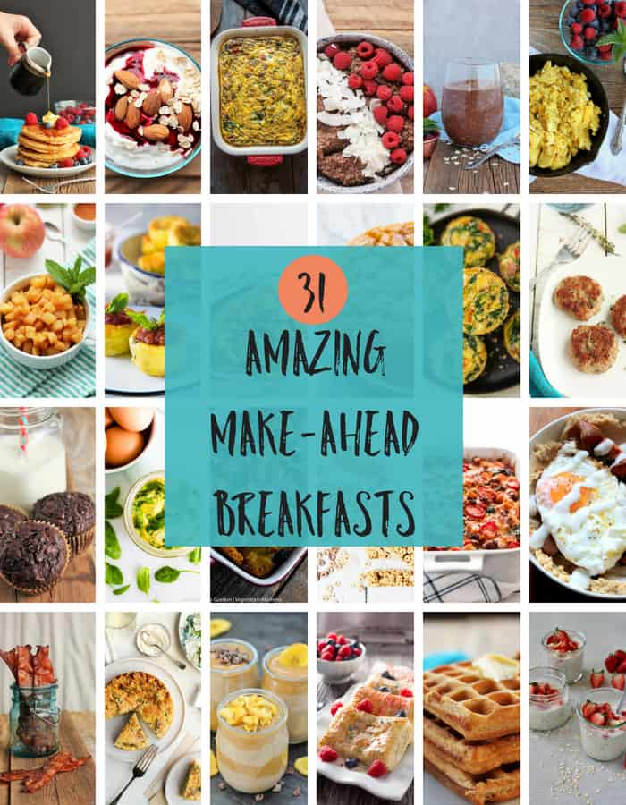 31 of the best make ahead breakfasts to help you and your family get out the door on time. Healthy and easy recipes such as eggs, burritos, and casseroles can be made for a crowd or enjoyed on the go. Pop some of these yummy meals in the freezer and make it simple for kids to make their own breakfast. #sustainablecooks #makeahead #makeaheadbreakfast #freezercooking #backtoschool #lowcarb #vegan