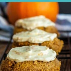 soft pumpkin cookies on a baking rack