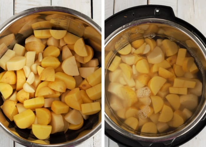 potatoes in an instant pot for whole30 mashed potatoes