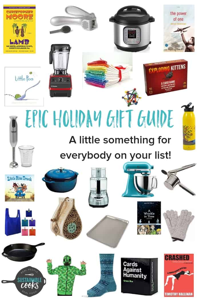 An epic gift guide with a gift, stocking stuffer, or idea for anyone on your list!