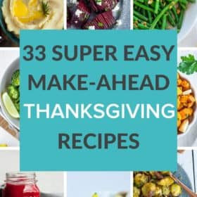 9 photos showing Thanksgiving dishes