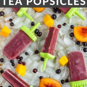 Popsicles on a tray of ice
