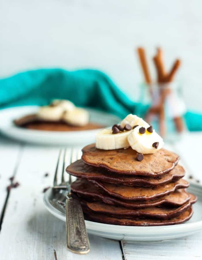 Gluten Free Banana Chocolate Chip Pancakes Paleo Df Sustainable Cooks