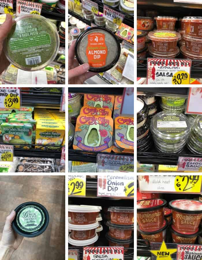 whole30 compliant condiments and salsas from Trader Joe's