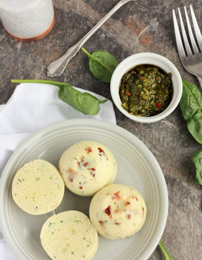 instant pot sous vide egg bites with chimichurri for whole30 breakfast ideas