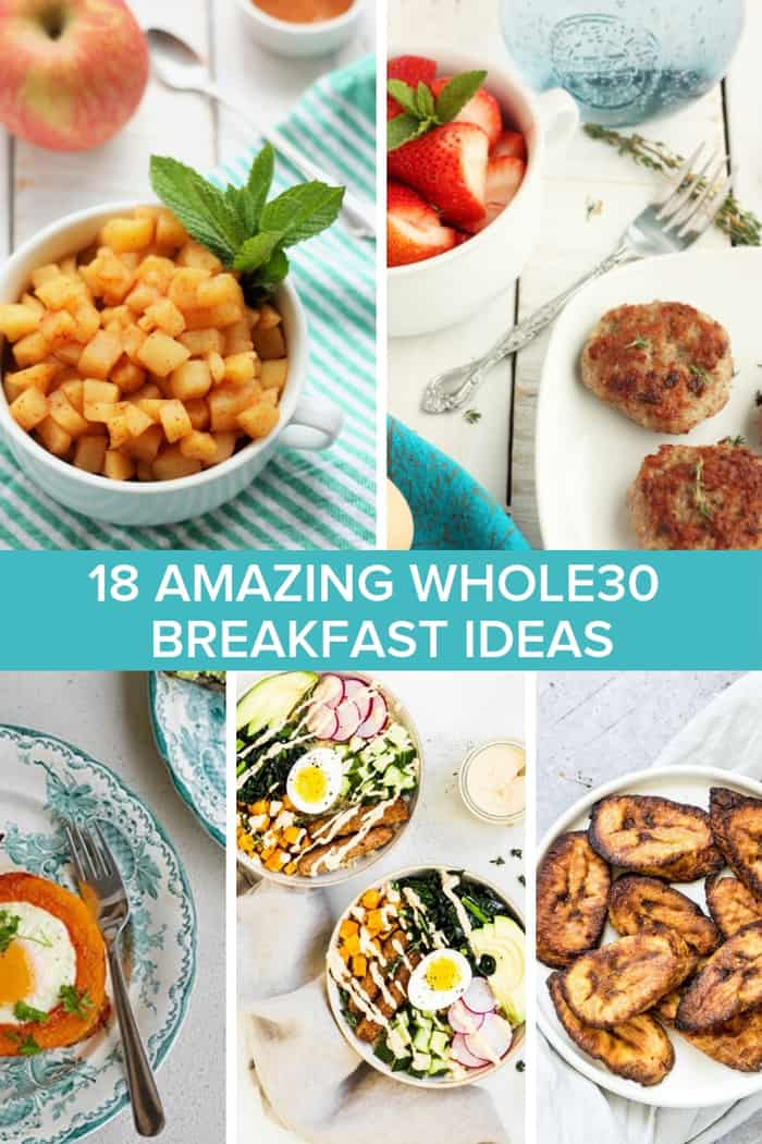 5 photos of whole30 breakfasts