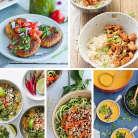 5 photos of whole30 dinners