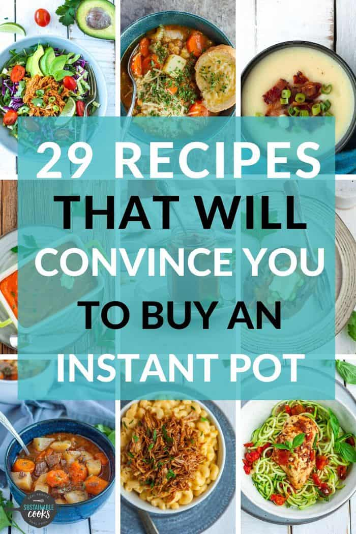 a photo grid with 9 Instant Pot recipes