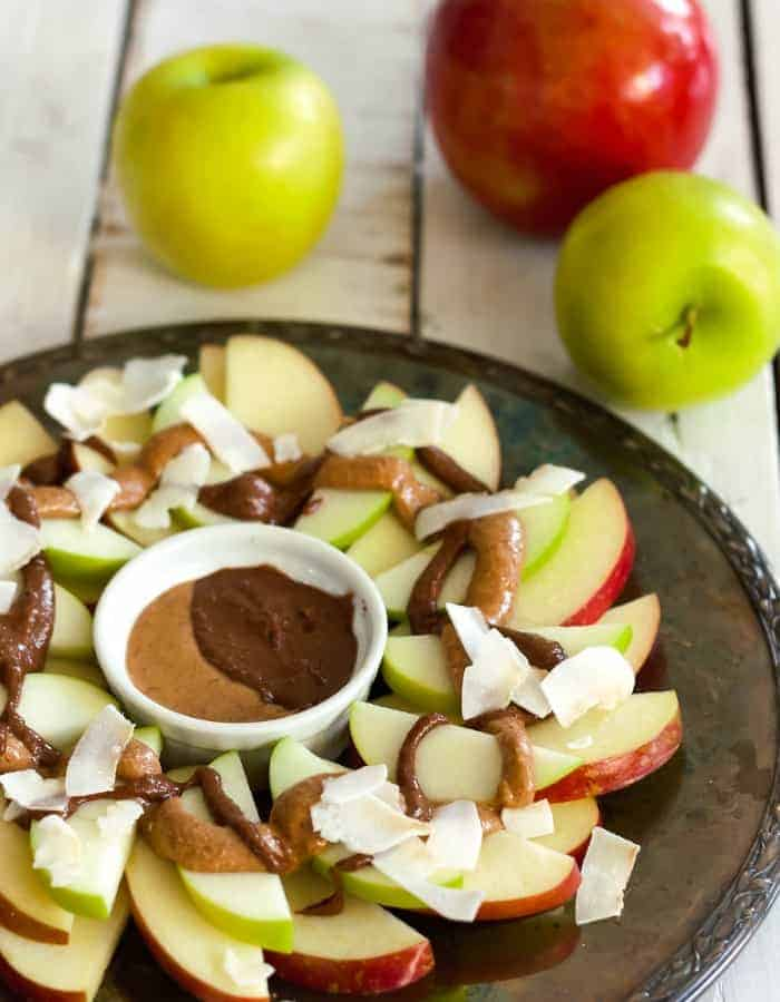 Healthy Apple Nachos (Paleo, Whole30, Vegan)