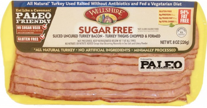 wellshire farms whole30 turkey bacon