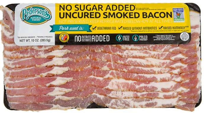 Pederson's Farms no sugar added uncured whole30 bacon