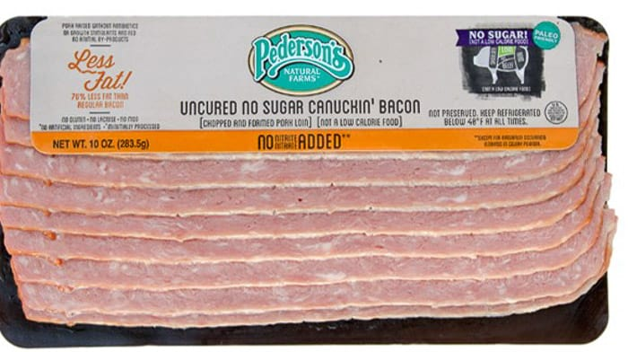 Pederson's Farms whole30 bacon, canuckin bacon