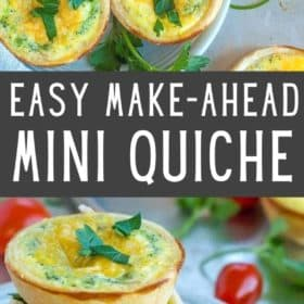 mini quiche on a plate