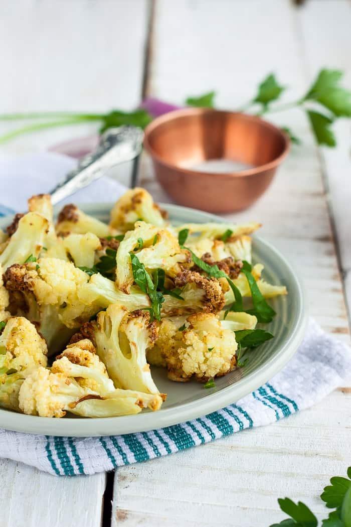 Air Fryer Cauliflower Whole30 Paleo Vegan Keto Sustainable Cooks