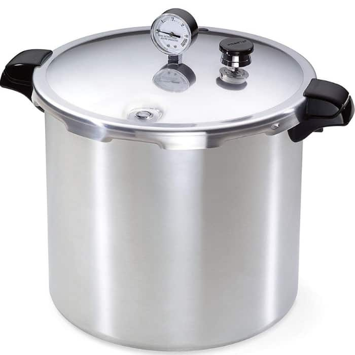 a pressure canner on a white background