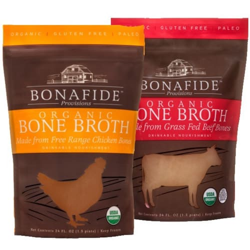 two pouches of bonafide provisions bone broth