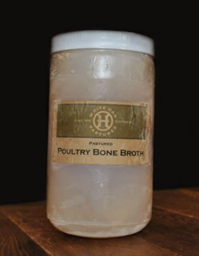 a jar of white oak pastures bone broth