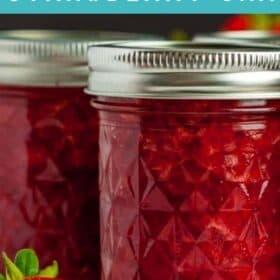jars of strawberry jam