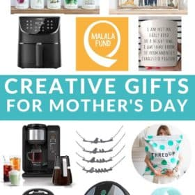 Photos grids of mothers day gift ideas