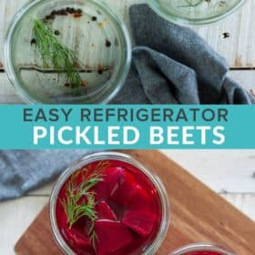 Refrigerator Pickled Beets {Quick Pickled Beets