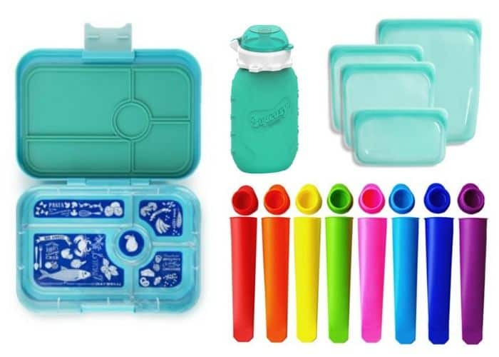 different kid-safe reusable containers for zero waste food storage