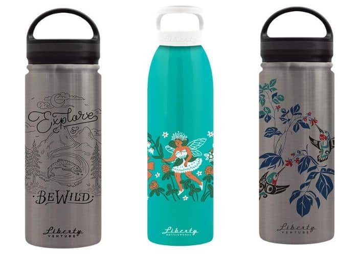 three kinds of liberty bottleworks reusable water bottles