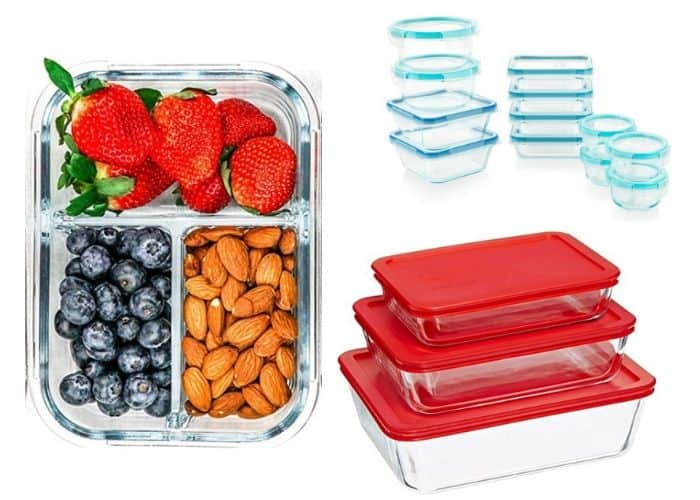 three different types of reusable glass containers