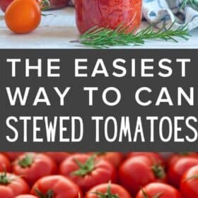 canning jars of stewed tomatoes