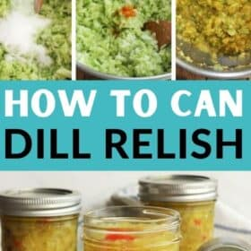 glass jars of dill pickle relish