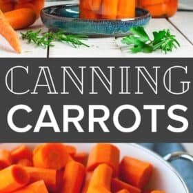jars of canned carrots